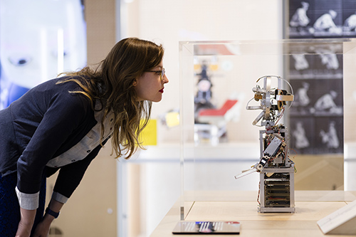 cmrubinworld_Visitor looking at LUCY © Plastiques Photography, courtesy of the Science Museum(500)